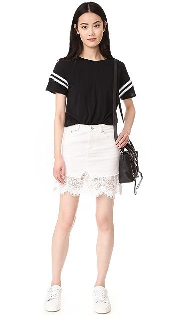 McQ - Alexander McQueen Hybrid 蕾丝短裙