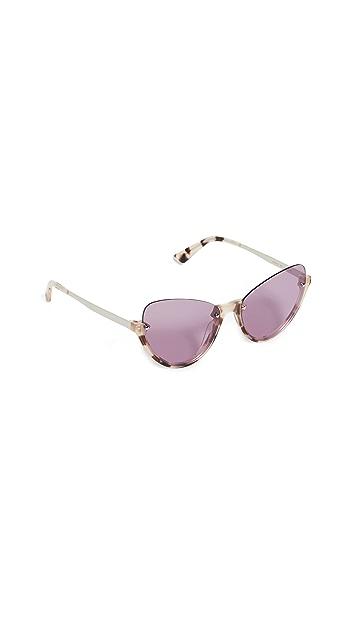 McQ - Alexander McQueen 窄版飞行员猫眼太阳镜