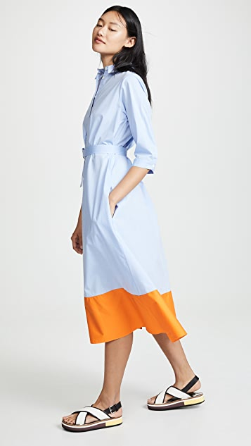 MDS Stripes 色块衬衣式连衣裙