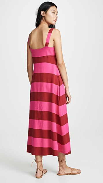 MDS Stripes 正面系带连衣裙