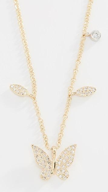 Meira T 14k 钻石蝴蝶项链