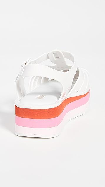 Melissa Possession 厚底平底鞋