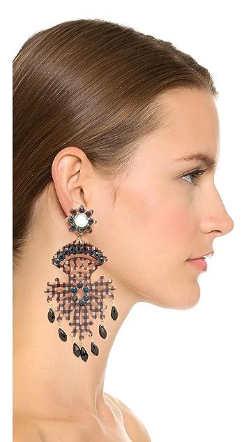 Mercedes Salazar Black Fiesta 耳环