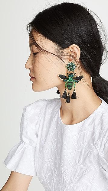 Mercedes Salazar 热带元素蝴蝶耳环