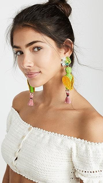Mercedes Salazar 热带鸟儿耳环