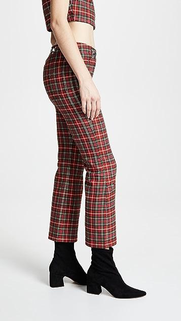 Miaou Morgan 装饰艺术风格腰带牛仔裤