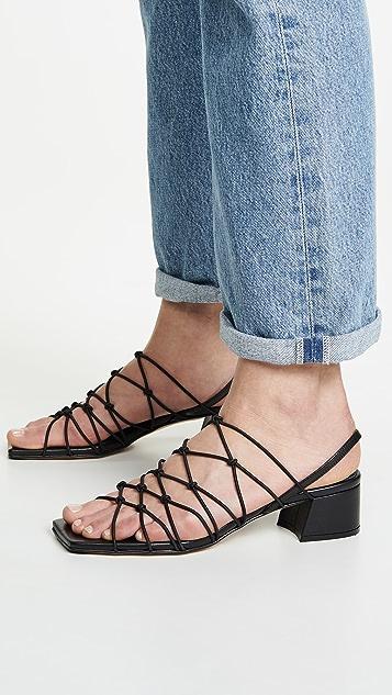 Miista Frida 粗跟凉鞋