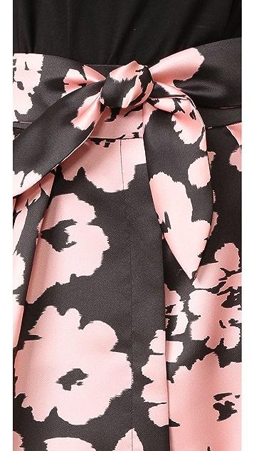 Milly 花朵印花中长半身裙