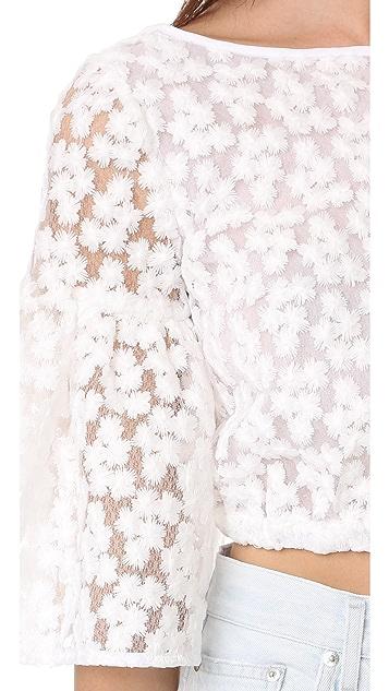 Milly 花朵刺绣 Lydia 上衣
