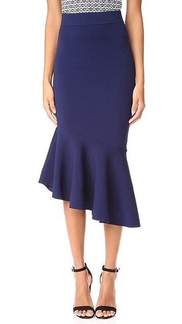 Milly 不对称垂褶设计半身裙
