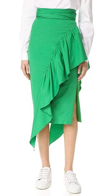 Milly 层叠绑带半身裙