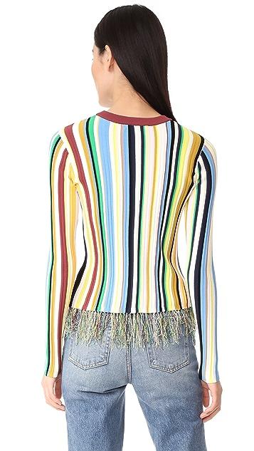 Milly 垂直条纹套头毛衣
