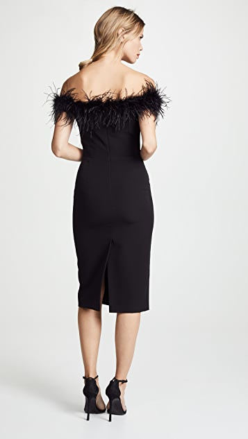 Milly 羽毛衣身连衣裙