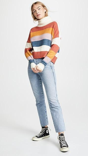 MINKPINK 拼色针织毛衣
