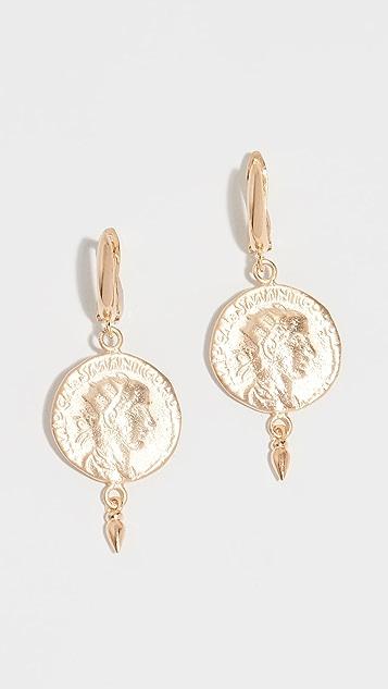 Maison Irem 硬币吊坠耳环