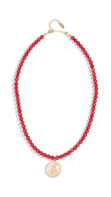 Maison Irem 珠饰圆牌项链