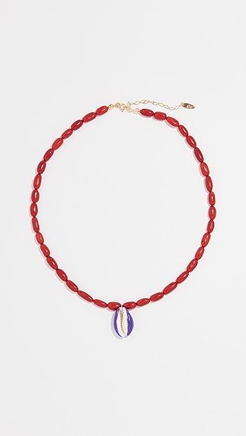 Maison Irem 竹珊瑚贝壳项链