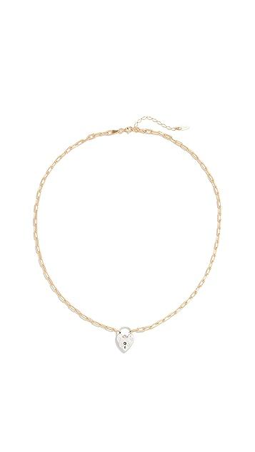 Maison Irem 复古心形小盒式吊坠短项链链条