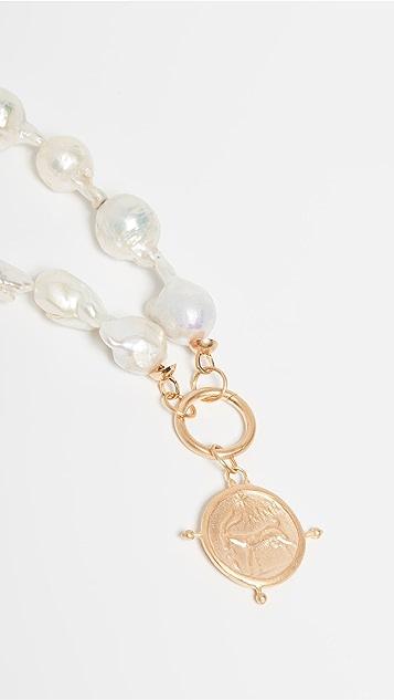 Maison Irem Baroque 淡水养殖珍珠圆牌项链