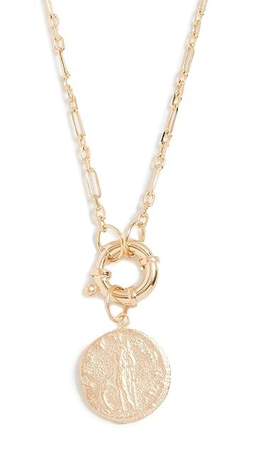 Maison Irem 复古锁扣圆牌项链