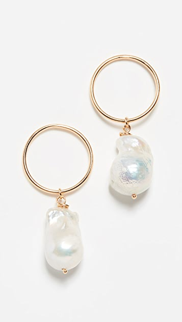 Maison Irem 淡水养殖珍珠耳环