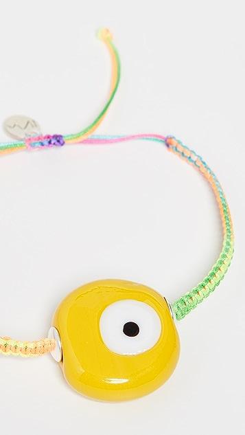 Maison Irem 黄色恶魔之眼彩虹镂空手链