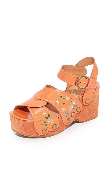 Marc Jacobs Wildflower 坡跟凉鞋