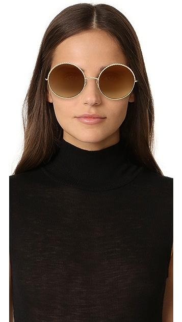 Marc Jacobs 绳索圆形太阳镜