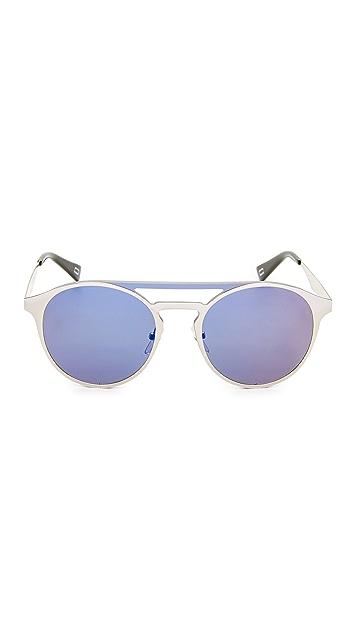 Marc Jacobs 圆形飞行员太阳镜