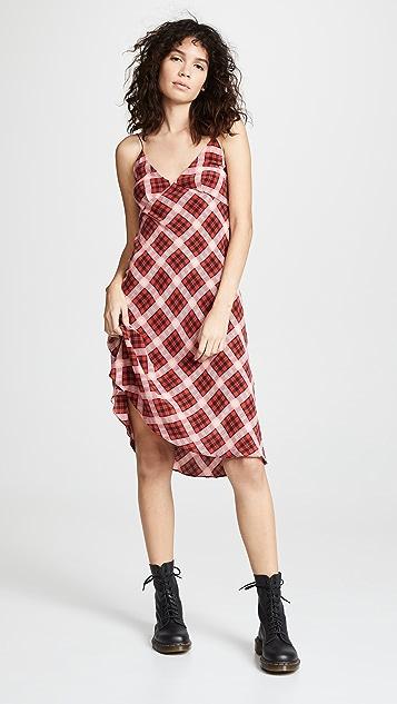 Marc Jacobs Redux Grunge 斜纹格子及膝连衣裙