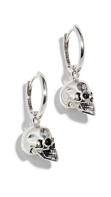 Marc Jacobs 骷髅圈式耳环