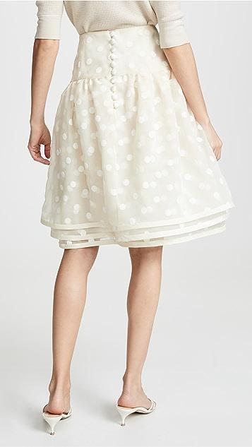 Marc Jacobs 分层波点薄纱半身裙