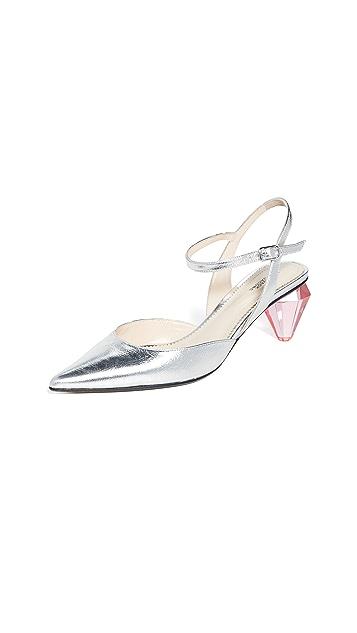 Marc Jacobs 菱形鞋跟露跟浅口鞋