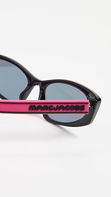 Marc Jacobs 运动风格窄太阳镜