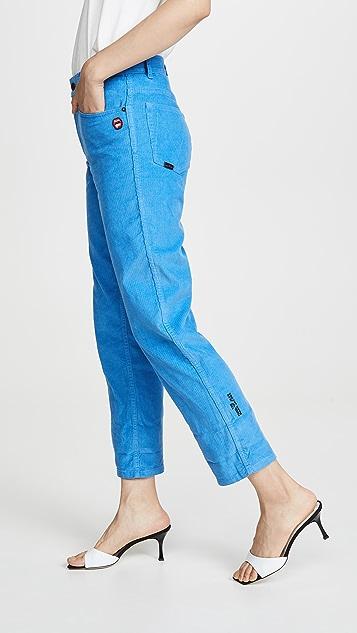 Marc Jacobs 灯芯绒翻边牛仔裤