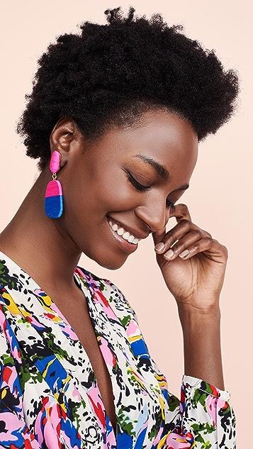 MaryJane Claverol 小号尺寸新颖 Rio 耳环