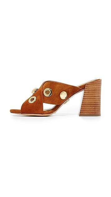 Michael Kors Collection Brianna 金属扣眼交叠穆勒鞋