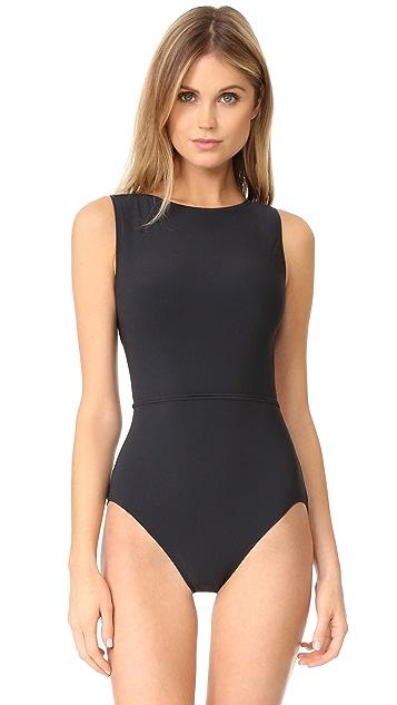 Michael Kors Collection 航海风系带连体泳衣