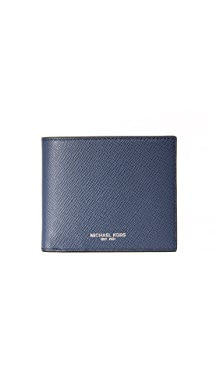 마이클 코어스 Michael Kors Harrison Leather Billfold,Navy