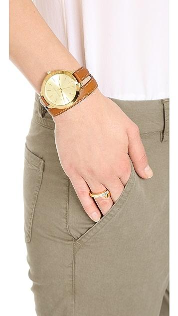 Michael Kors 细长双股缠绕手表