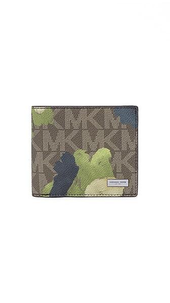 Michael Kors 奢华休闲出行风彩绘迷彩双折钱包
