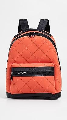 마이클 코어스 Michael Kors Odin Neoprene Backpack,Bright Orange