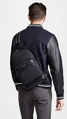 Michael Kors Odin Neoprene Sling Pack,Black