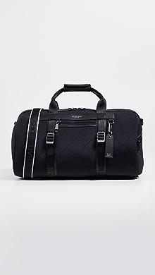 Michael Kors Odin Neoprene Convertible Duffel Backpack,Black