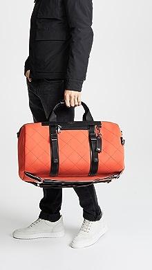 Michael Kors Odin Neoprene Convertible Duffel Backpack,Bright Orange