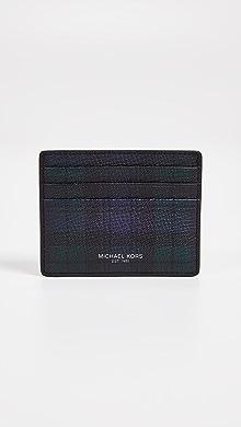 Michael Kors Henry Tall Card Case,Navy/Spruce