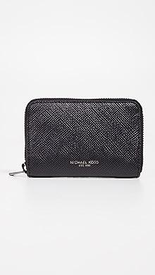 Michael Kors Harrison Coin Zip Wallet,Black