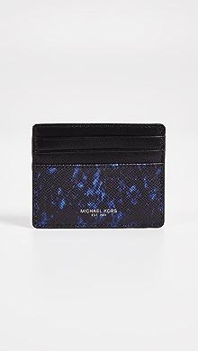 Michael Kors Kent Tall Card Case,Sapphire Blue