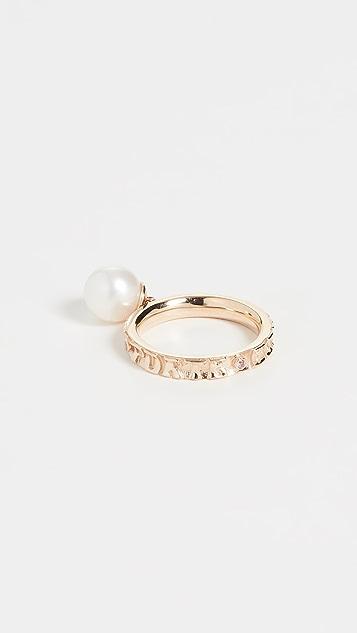 Marlo Laz 14k 黄金淡水养殖珍珠戒指