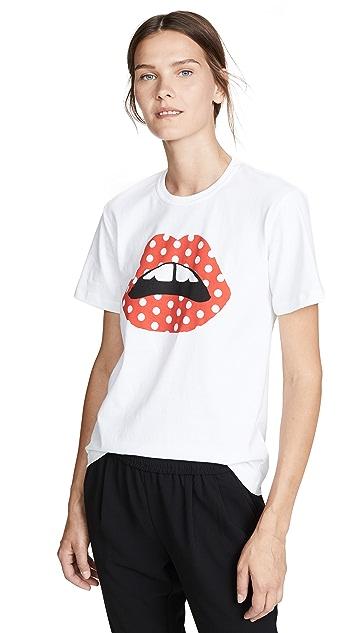 Markus Lupfer Anna 波点唇形 T 恤